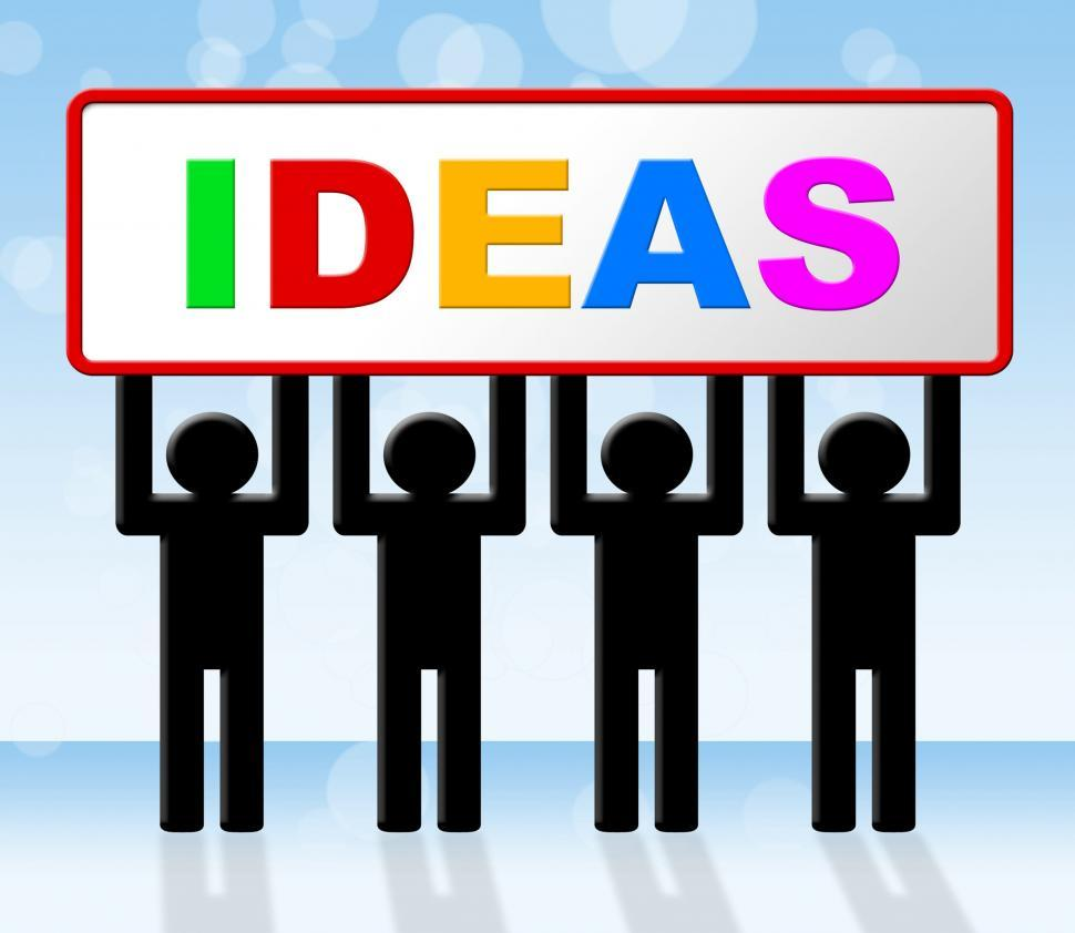 Download Free Stock HD Photo of Ideas Idea Means Conception Invention And Innovation Online