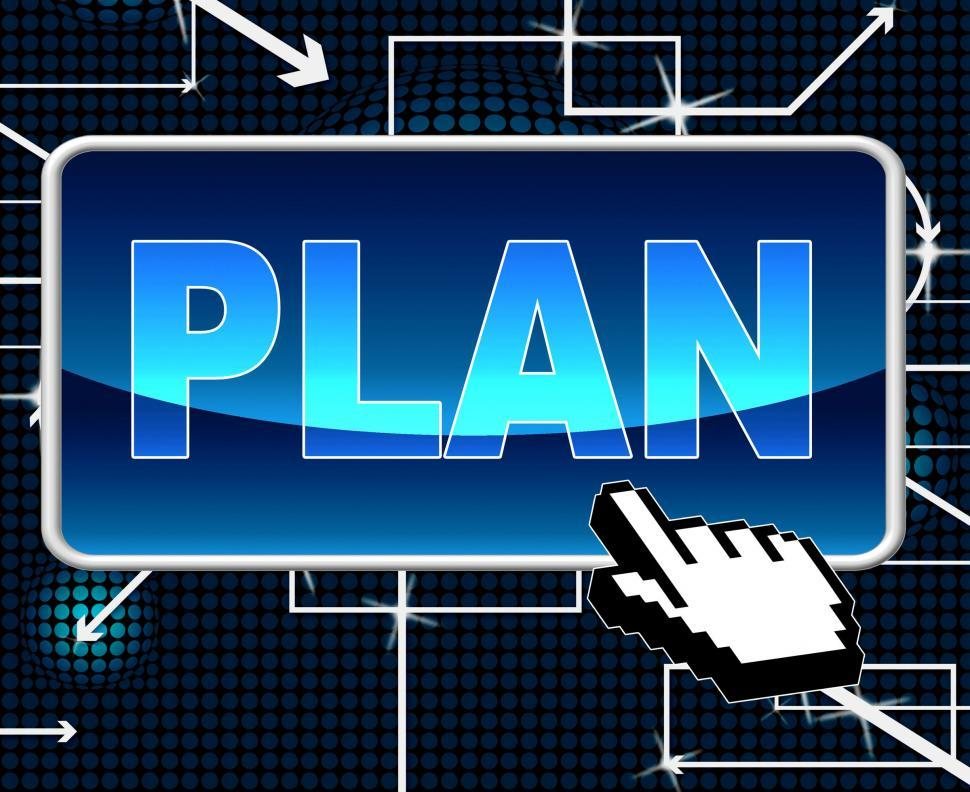 Download Free Stock HD Photo of Plan Button Means Project Programme And Web Online