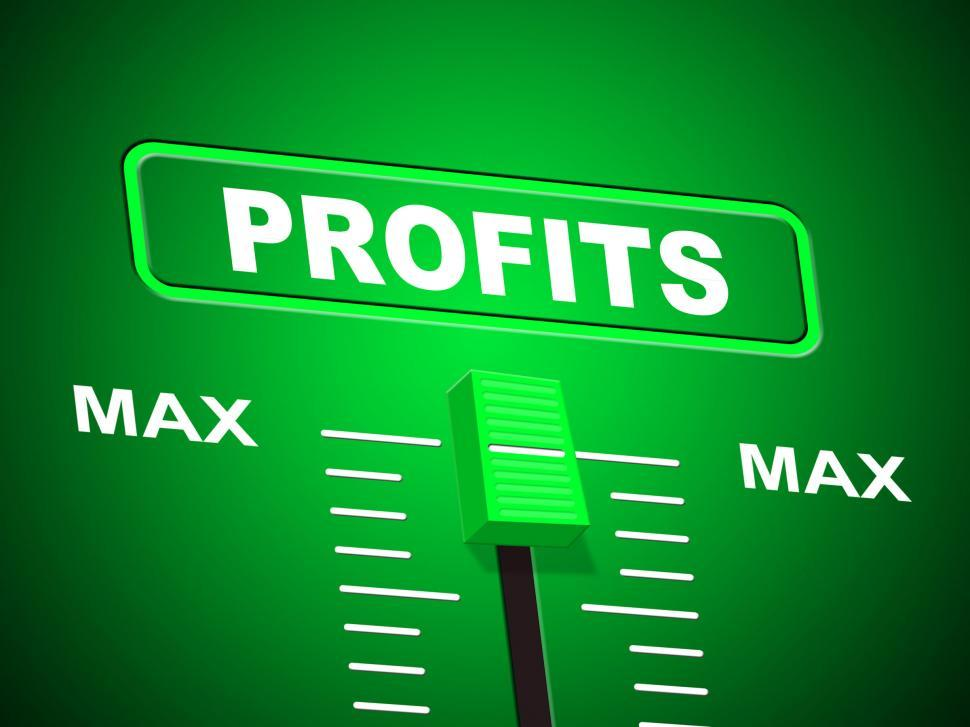 Download Free Stock HD Photo of Profits Max Shows Upper Limit And Top Online