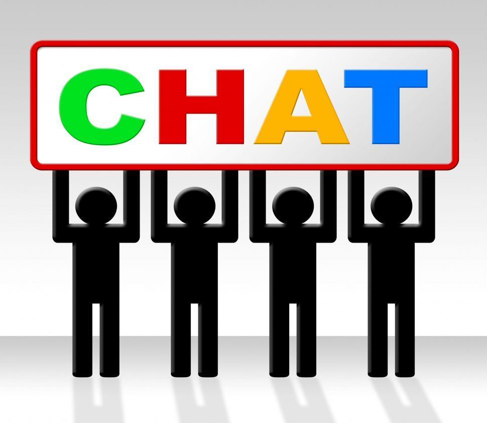 Download Free Stock HD Photo of Chat Chatting Indicates Talking Typing And Talk Online