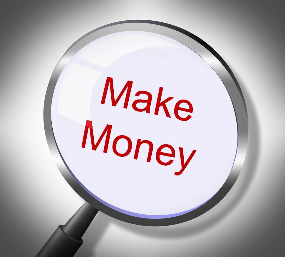 Download Free Stock HD Photo of Make Money Represents Searches Earnings And Wages Online