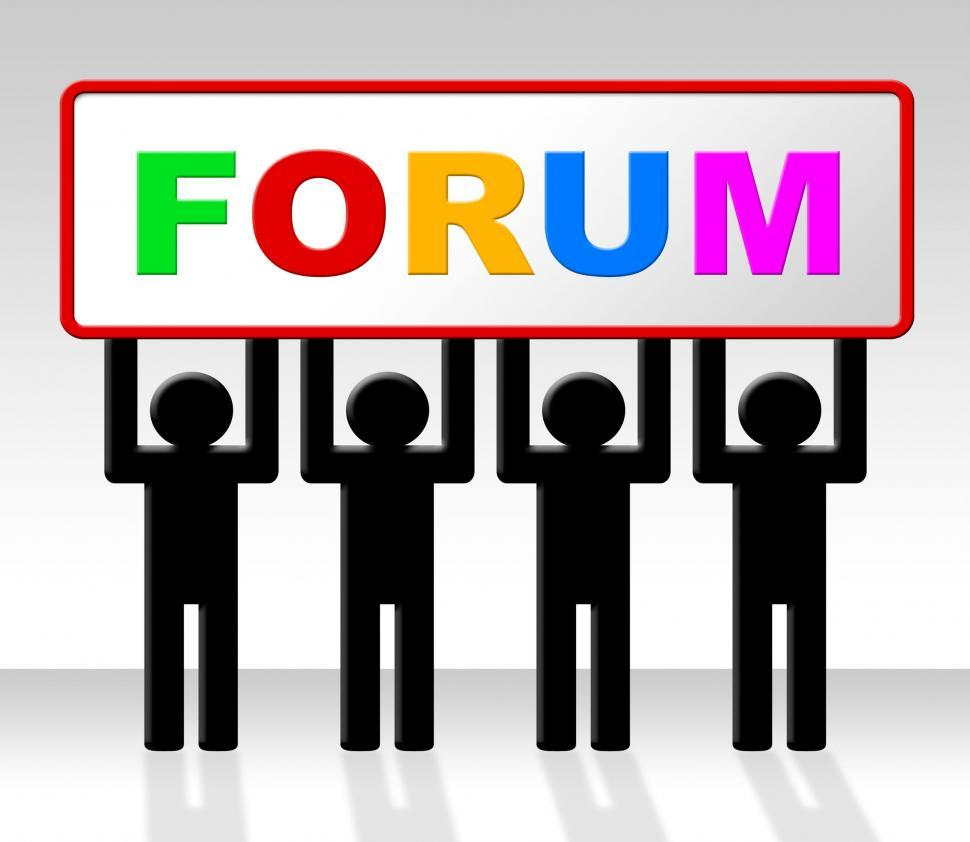 Download Free Stock HD Photo of Forum Forums Represents Social Media And Website Online