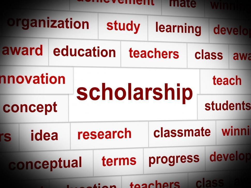 Download Free Stock HD Photo of Scholarship Education Indicates Educating Train And Development Online
