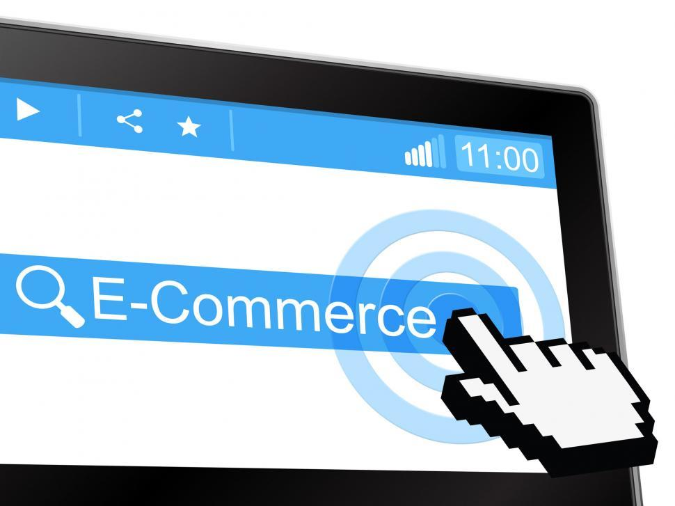 Download Free Stock HD Photo of E Commerce Shows World Wide Web And Purchasing Online