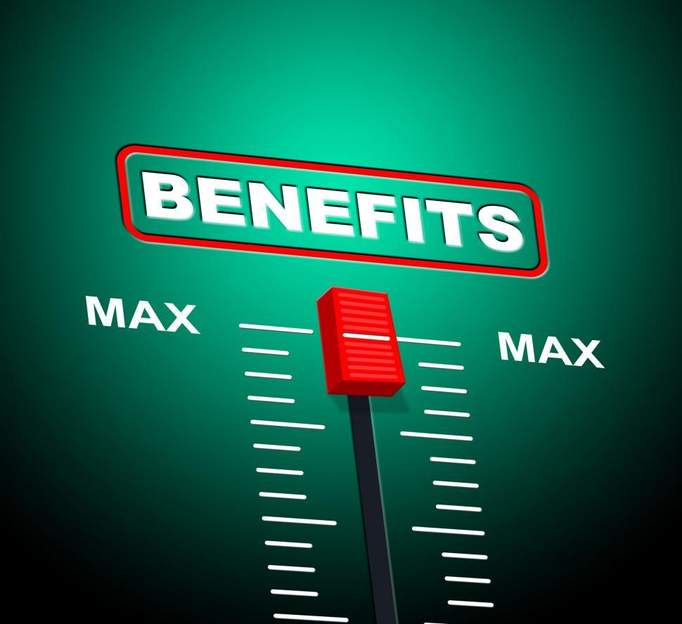 Download Free Stock HD Photo of Benefits Max Shows Upper Limit And Utmost Online