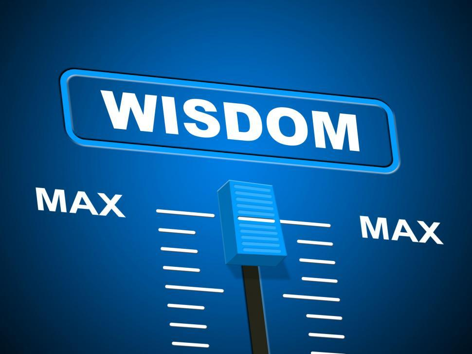 Download Free Stock HD Photo of Wisdom Max Means Smartness Most And Wise Online