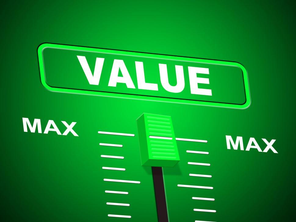 Download Free Stock HD Photo of Value Max Indicates Upper Limit And Ceiling Online