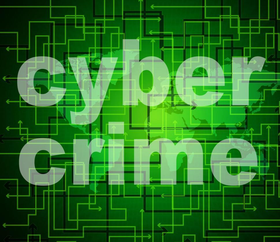 Download Free Stock HD Photo of Cyber Crime Means World Wide Web And Criminal Online