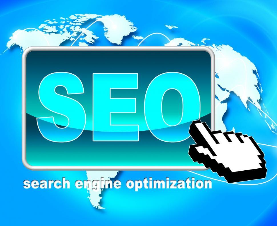 Download Free Stock HD Photo of Seo Button Represents World Wide Web And Optimization Online