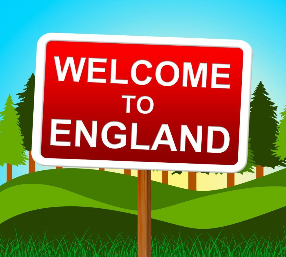 Download Free Stock HD Photo of Welcome To England Means United Kingdom And Arrival Online