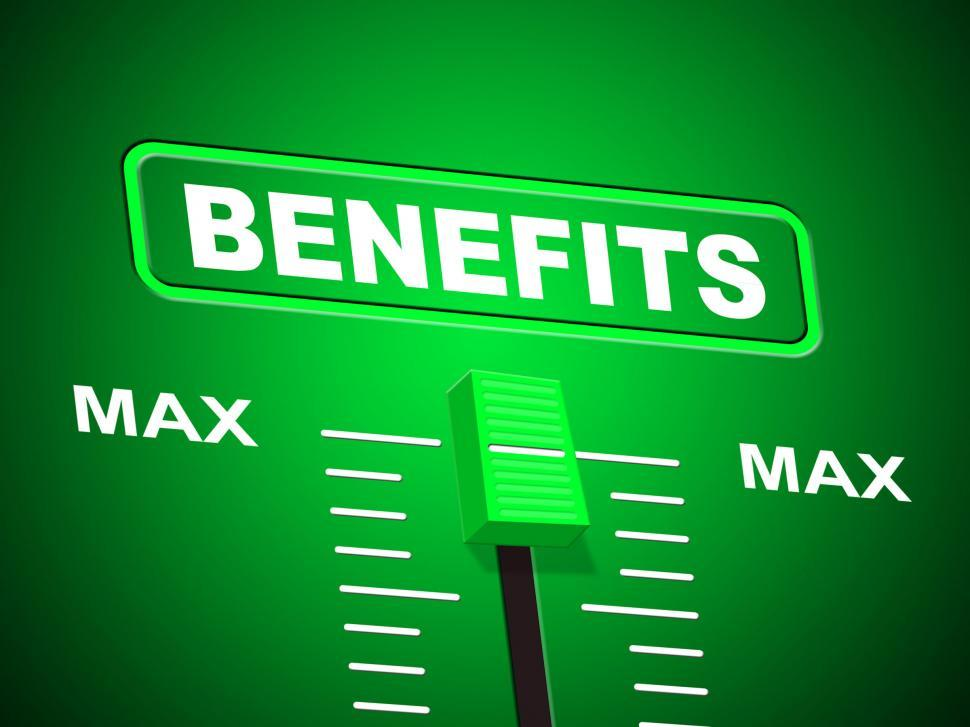 Download Free Stock HD Photo of Benefits Max Indicates Upper Limit And Perk Online