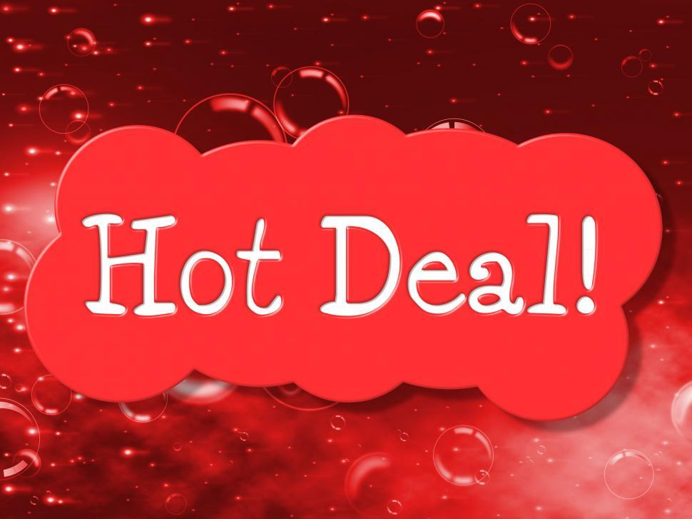 Download Free Stock HD Photo of Hot Deal Indicates Cheap Discounted And Bargain Online