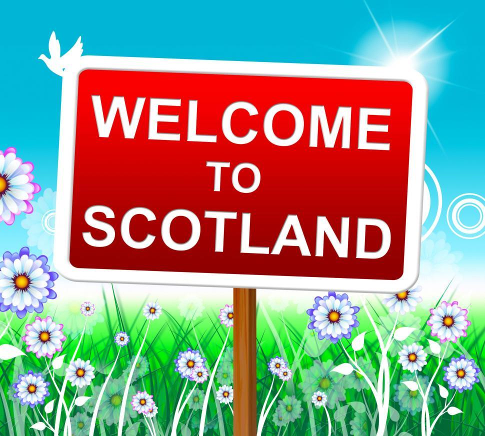 Download Free Stock HD Photo of Welcome To Scotland Represents Invitation Outdoor And Hello Online
