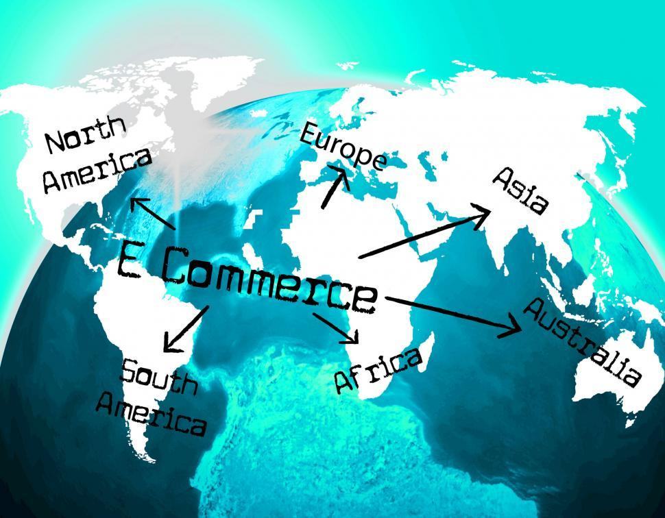 Download Free Stock HD Photo of World E Commerce Indicates Ecommerce E-Commerce And Company Online