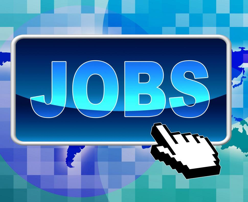 Download Free Stock HD Photo of Jobs Button Shows World Wide Web And Position Online