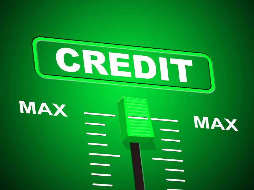 Download Free Stock HD Photo of Max Credit Shows Debit Card And Banking Online