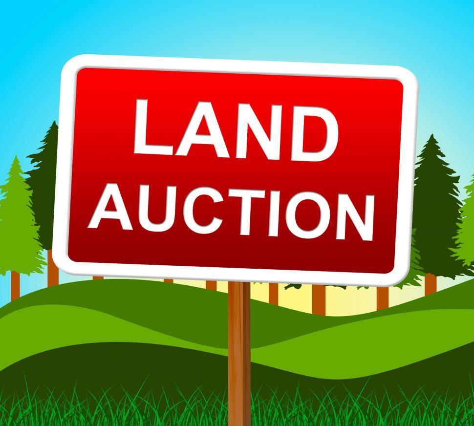 Download Free Stock HD Photo of Land Auction Shows Winning Bid And Acres Online