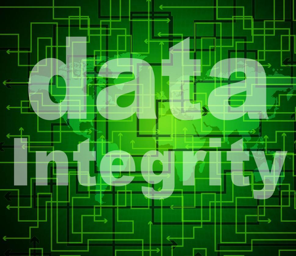 Download Free Stock HD Photo of Integrity Data Means Virtuous Information And Honesty Online