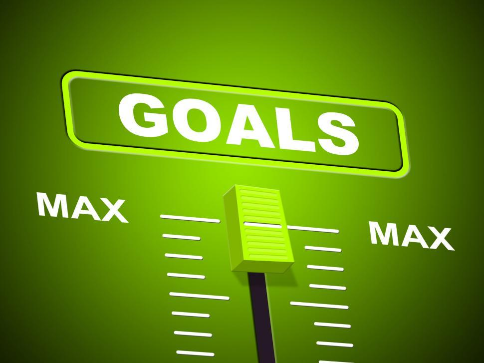 Download Free Stock HD Photo of Goals Max Shows Upper Limit And Maximum Online