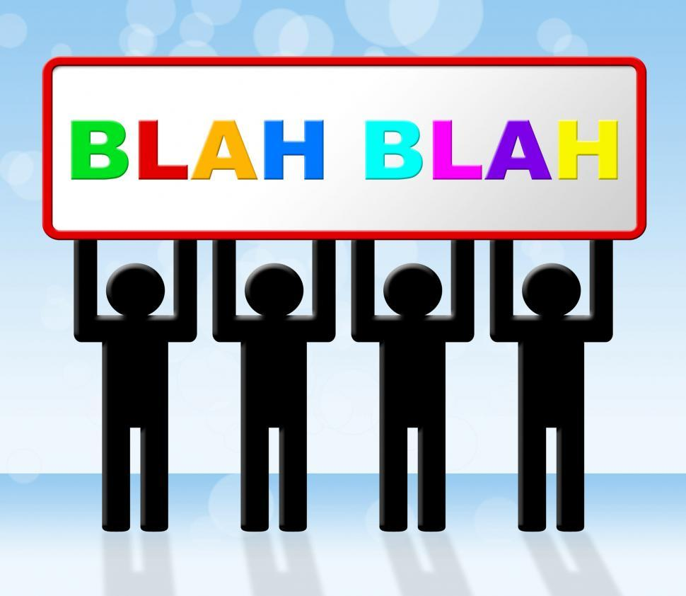 Download Free Stock HD Photo of Blah Speak Represents Dialog Conversation And Dialogue Online