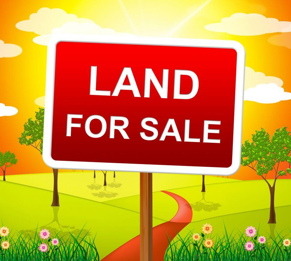 Download Free Stock HD Photo of Land For Sale Represents Real Estate Agent And Purchase Online