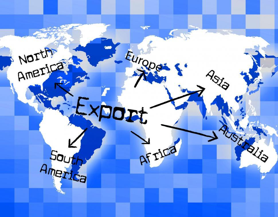 Download Free Stock HD Photo of Worldwide Export Means Trading Exporting And Exported Online