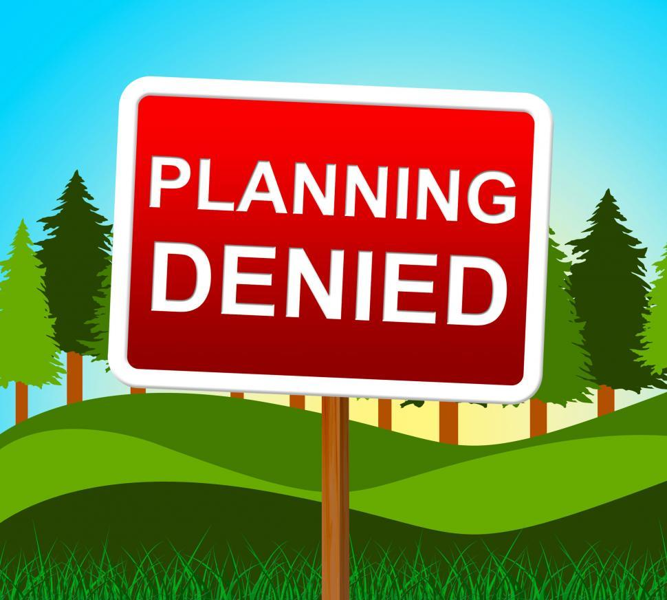 Download Free Stock HD Photo of Planning Denied Means Plans Refusal And Objectives Online