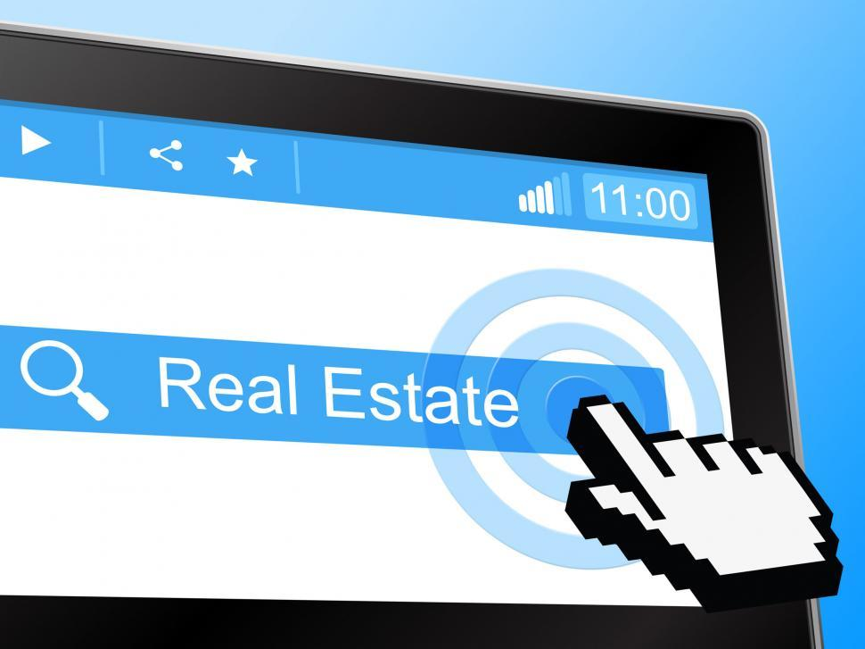 Download Free Stock HD Photo of Real Estate Indicates On The Market And Web Online