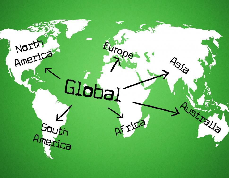 Download Free Stock HD Photo of Global World Indicates Globe Globalise And Globalization Online