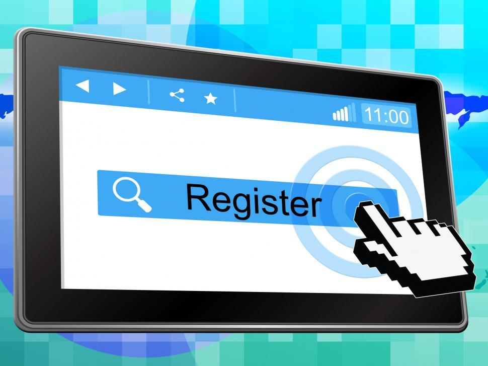 Download Free Stock HD Photo of Register Online Indicates World Wide Web And Membership Online