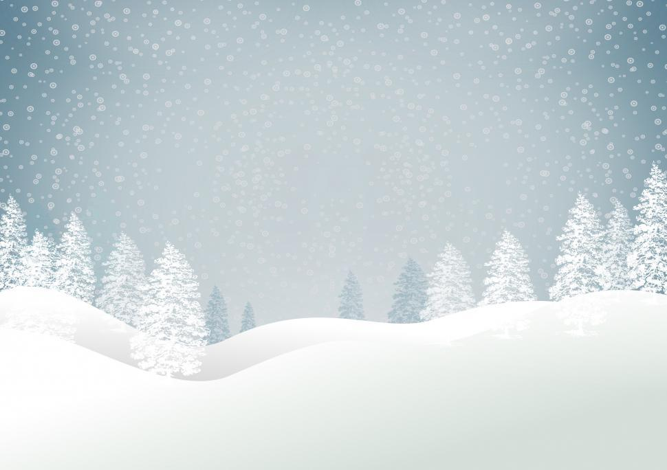 Download Free Stock HD Photo of Christmas snowy landscape - Xmas card with copyspace - Blue tone Online
