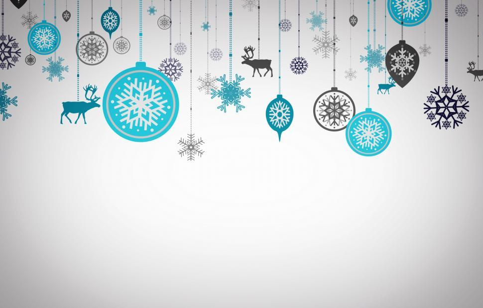 Download Free Stock HD Photo of Postcard with Xmas ornaments - Happy Christmas concept Online