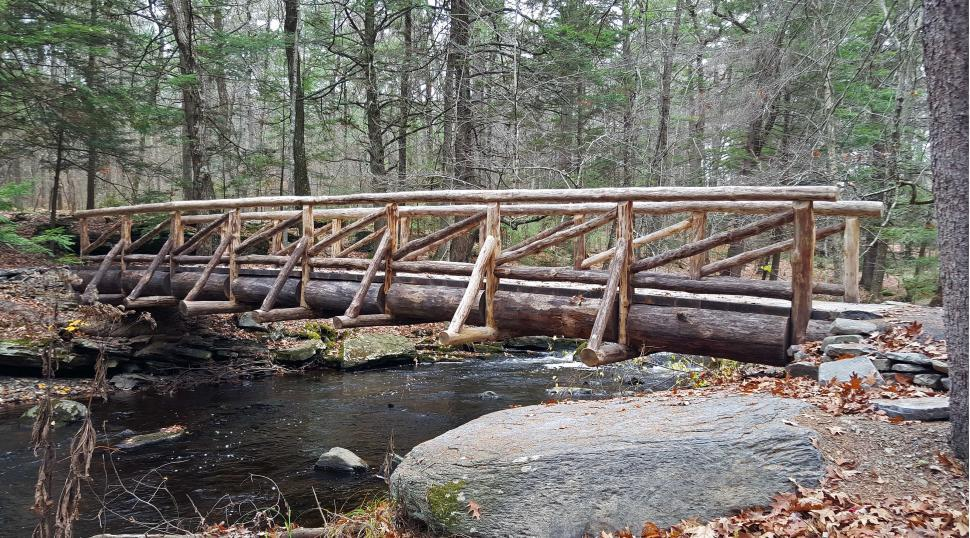 Download Free Stock HD Photo of Wooden Bridge at George W. Childs Recreation Site Online