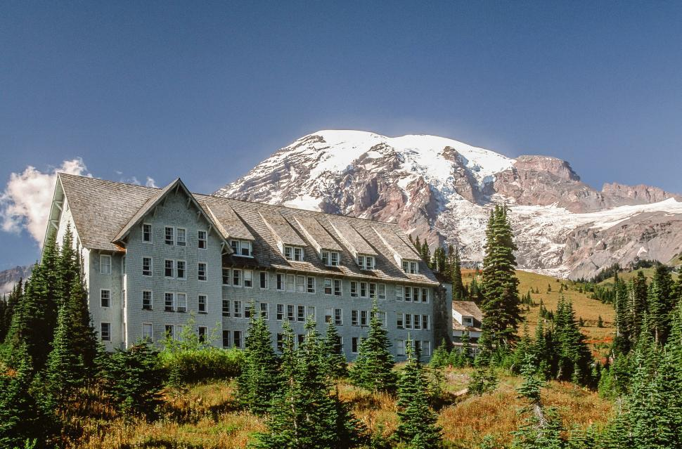 Get free stock photos of almost paradise lodging at mount for Cabins near mt ranier
