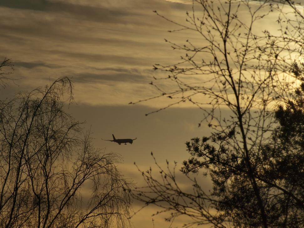 Download Free Stock HD Photo of Airplane flying in to clouds  Online
