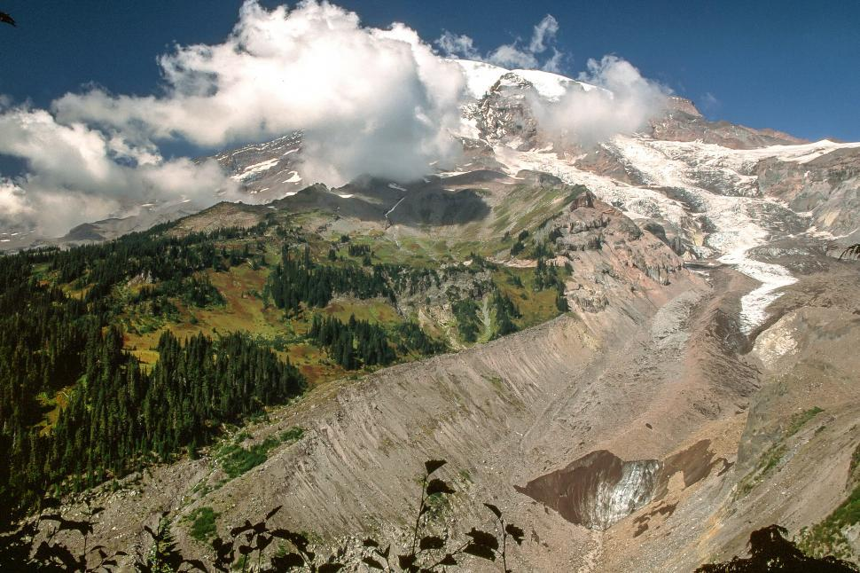 Download Free Stock HD Photo of Nisqually Glacier at Mount Rainier Online