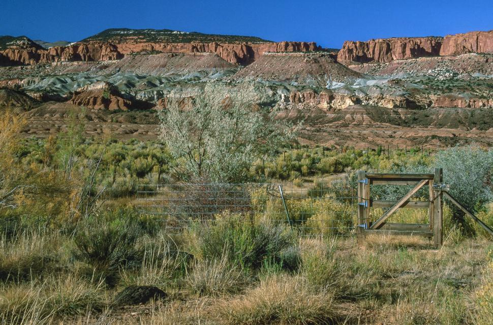 Download Free Stock HD Photo of Gate, Capitol Reef National Park Online
