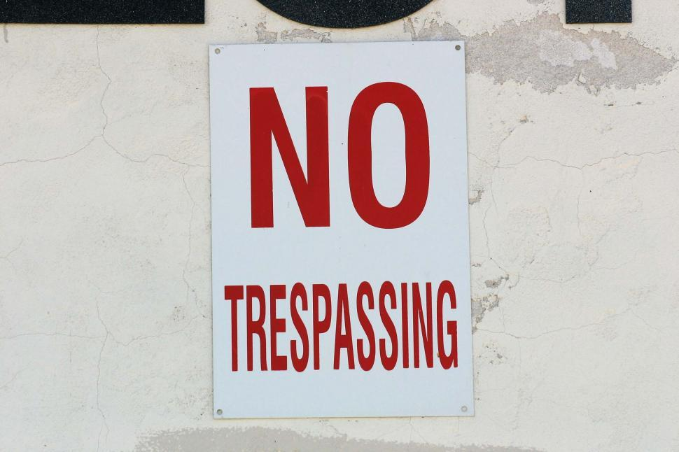 Download Free Stock HD Photo of No Trespassing sign Online