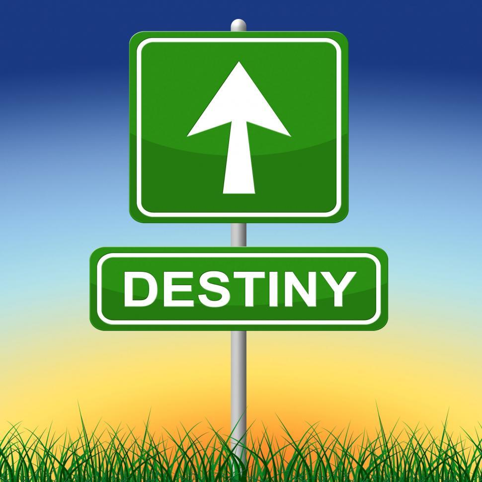 Download Free Stock HD Photo of Destiny Sign Means Future Pointing And Arrows Online