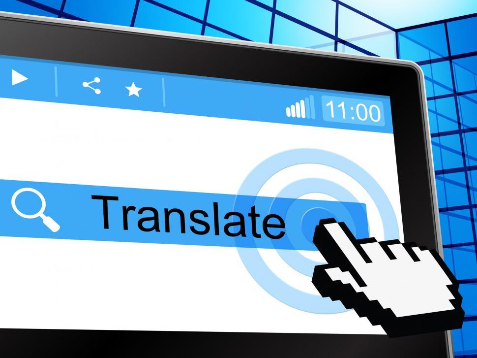 Download Free Stock HD Photo of Translate Online Indicates Convert To English And Language Online