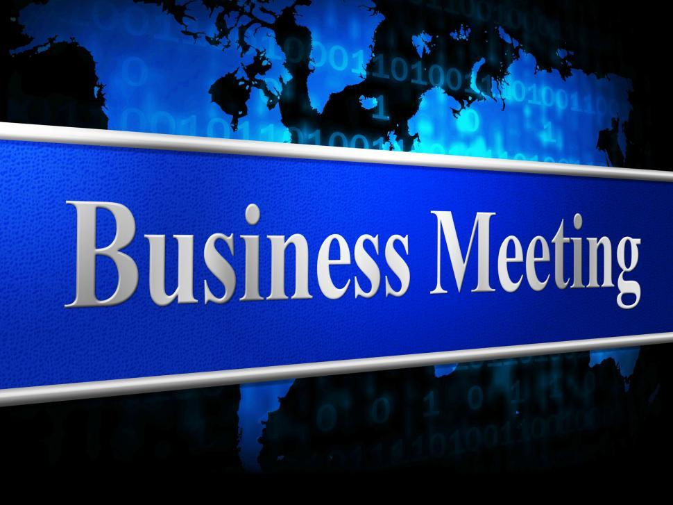 Download Free Stock HD Photo of Meetings Business Indicates Convene Conference And Commerce Online