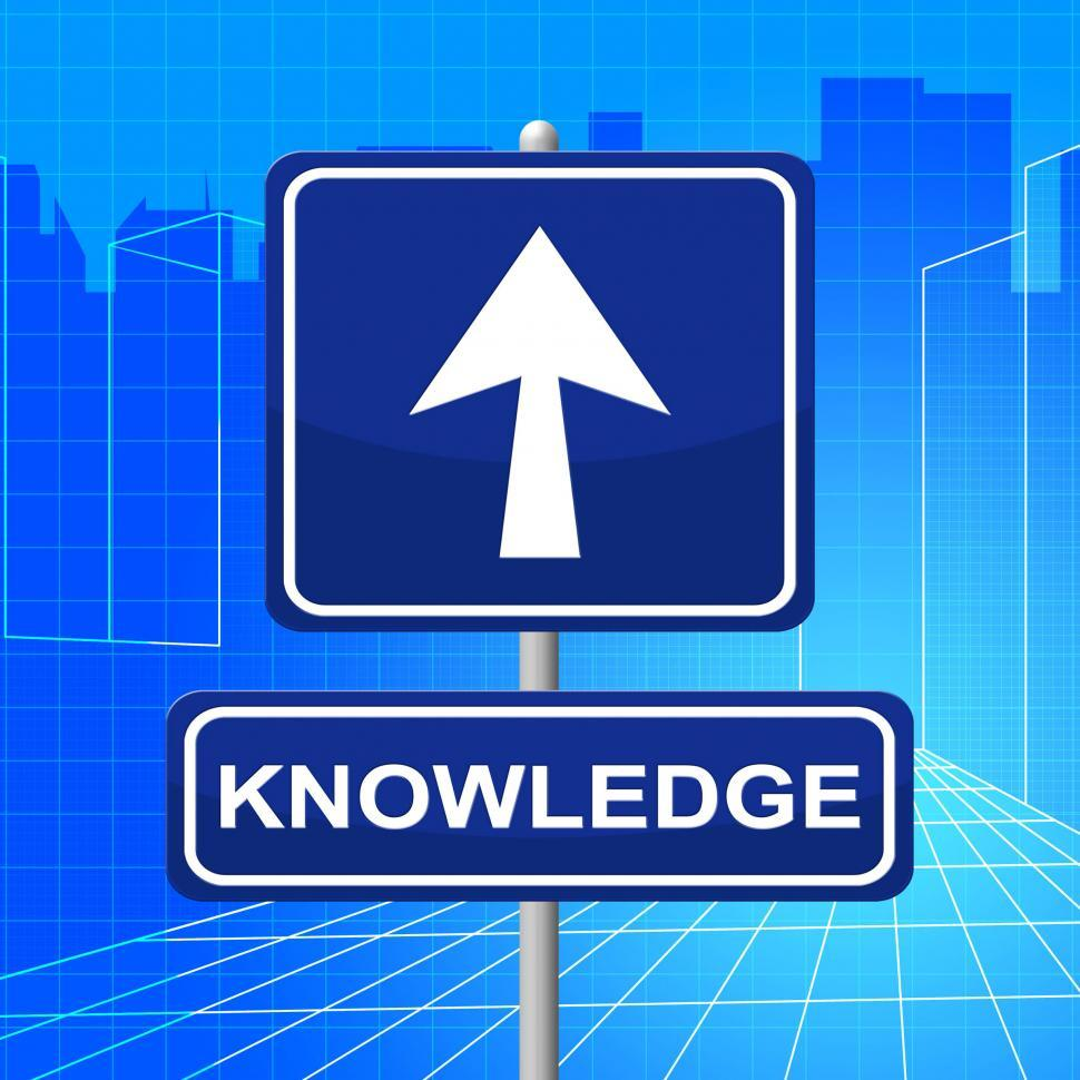 Download Free Stock HD Photo of Knowledge Sign Represents Answer Inform And Pointing Online