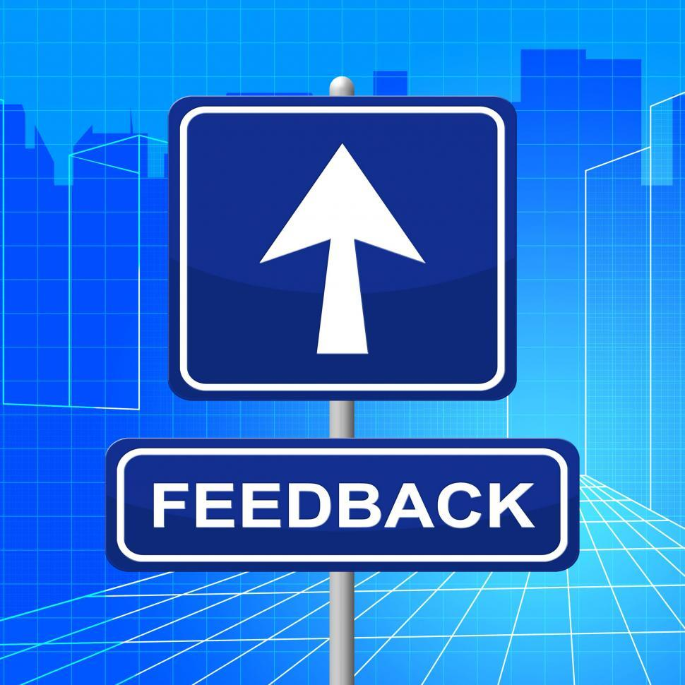 Download Free Stock HD Photo of Feedback Sign Shows Direction Comment And Evaluation Online