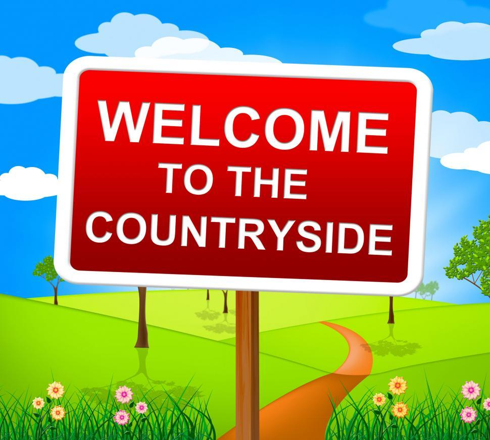 Get Free Stock Photos Of Countryside Welcome Means Greetings