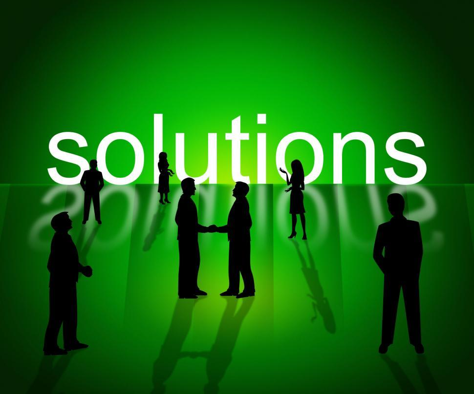 Download Free Stock HD Photo of Solutions Business Shows Company Resolution And Successful Online