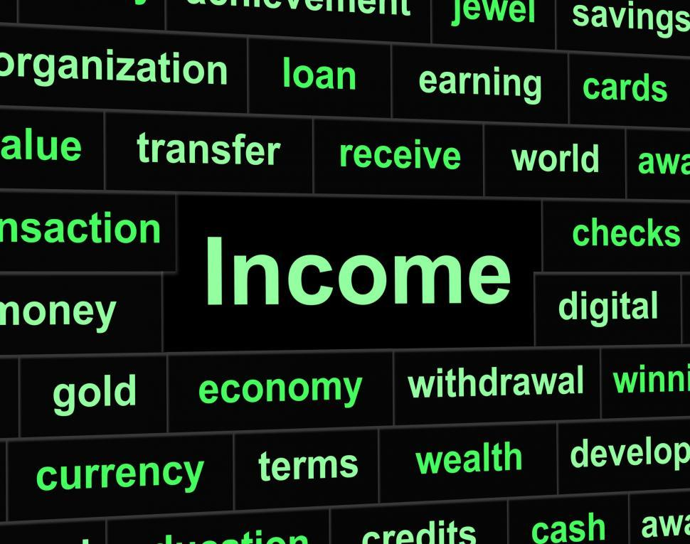 Download Free Stock HD Photo of Income Earnings Shows Salaries Revenue And Wage Online