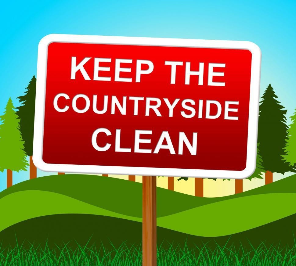 Download Free Stock HD Photo of Keep Countryside Clean Represents Untouched Environment And Land Online