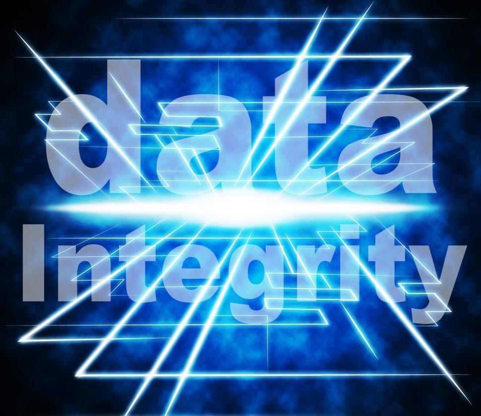 Download Free Stock HD Photo of Data Integrity Represents Uprightness Sincerity And Virtuous Online