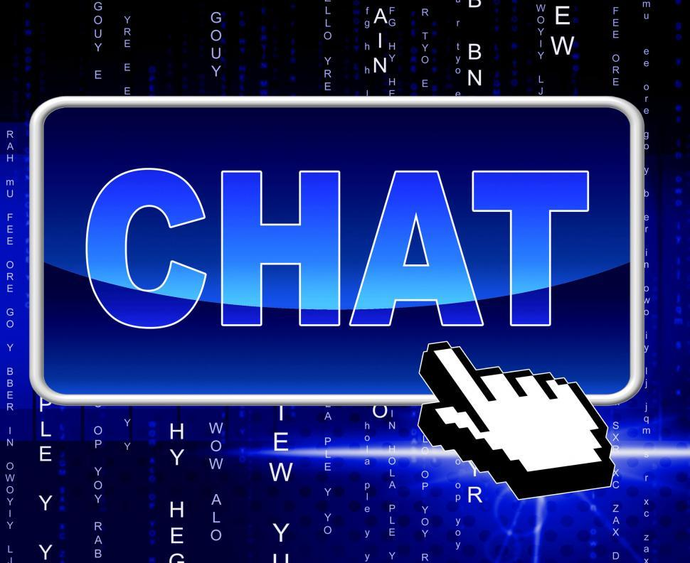 Download Free Stock HD Photo of Chat Button Means World Wide Web And Telephone Online