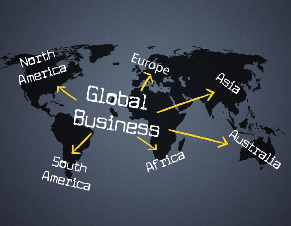 Download Free Stock HD Photo of Global Business Shows Planet Globalize And Corporate Online